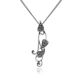 Gemondo стерлингового серебра 0.17ct марказит сердце кулон на цепочке
