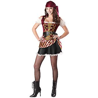 Pirate Babe of the Caribbean Swashbuckler Teen Women Costume