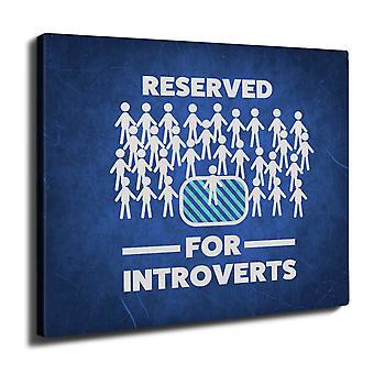 Introvert Cool Joke Wall Art Canvas 40cm x 30cm | Wellcoda
