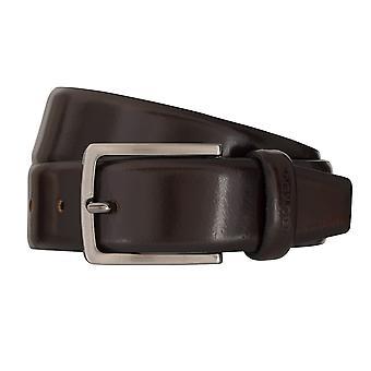 Correa de cuero cinturones de OTTO KERN cinturones de los hombres 7021 marrón oscuro
