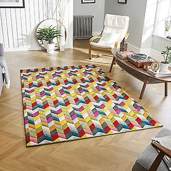 PICCADILLY     564Y Multi  Rectangle Rugs Funky Rugs