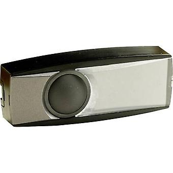 Byron BY37Z Bell button backlit, incl. nameplate 1x Black