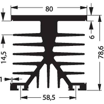 Fischer Elektronik SK 89 75 KL-SSR1 Disipador de calor 1,2 K/W (L x An x H) 80 x 75 x 87 mm