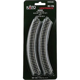 7078112 N Kato Unitrack Curve 45 ° 216 mm