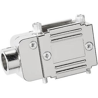 D-SUB adapter housing Number of pins: 15 Plastic, metallised 90 °, 90 ° Silver Provertha 77151M 1 pc(s)