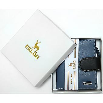 Doos van de Gift van de kleine Womens portemonnee - Dames portemonnee echt leer - Felda RFID