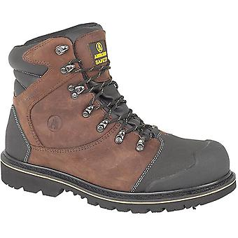 Amblers Steel FS227 Mens Nubuck Leather Upper Safety Work Boots Brown