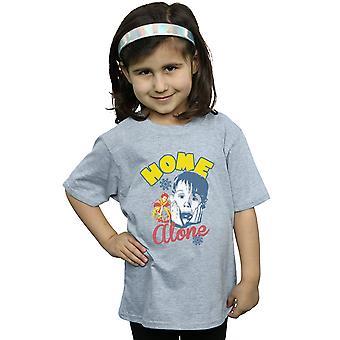 Kotiin yksin tytöt lumihiutale Retro t-paita