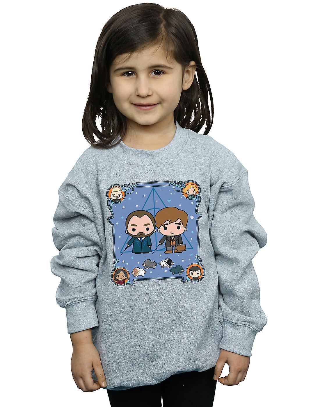 Fantastic Beasts Girls Chibi Newt And Dumbledore Sweatshirt