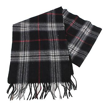 Bassin and Brown Underwood Check Wool and Cashmere Blend Scarf - Black/Grey/Red