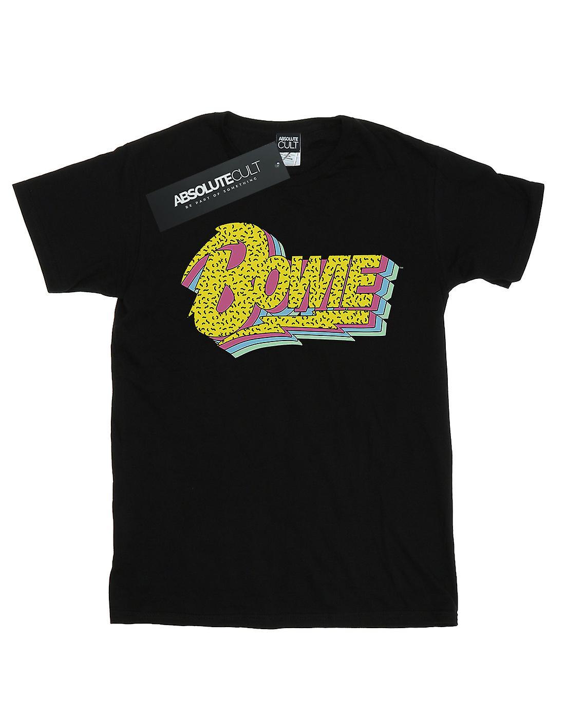 David Bowie Women's Moonlight 90s Logo Boyfriend Fit T-Shirt