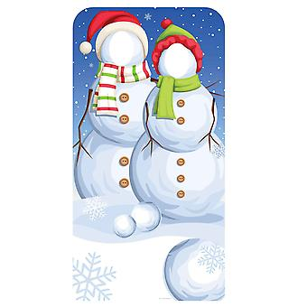 Christmas Snowmen Stand-In Cardboard Cutout / Standee / Standup