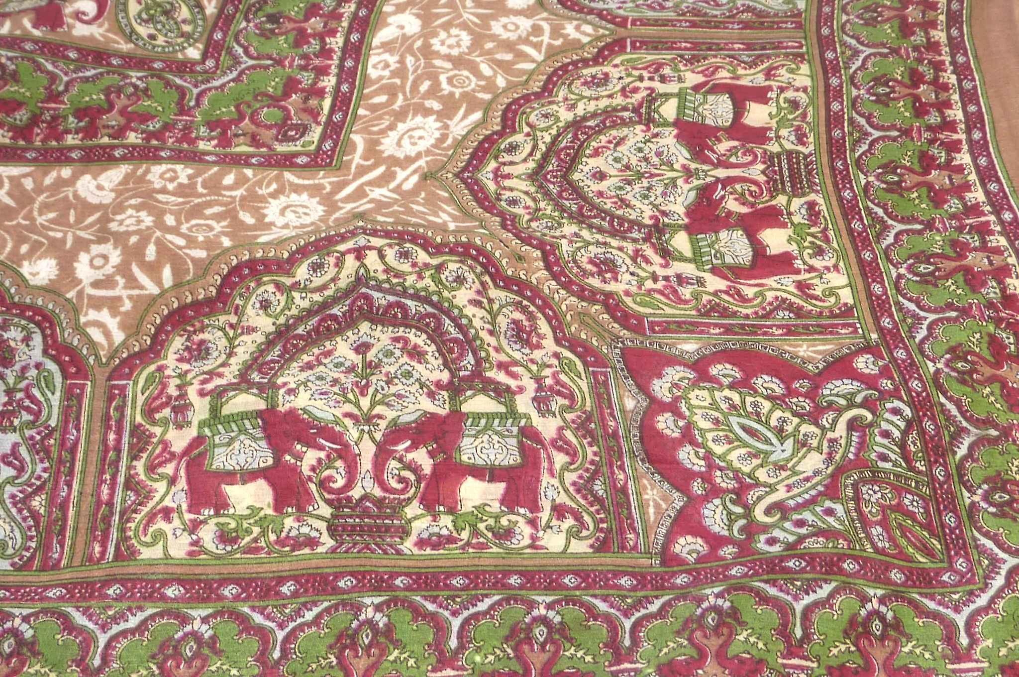 Mulberry Silk Traditional Square Scarf Babu Chestnut by Pashmina & Silk