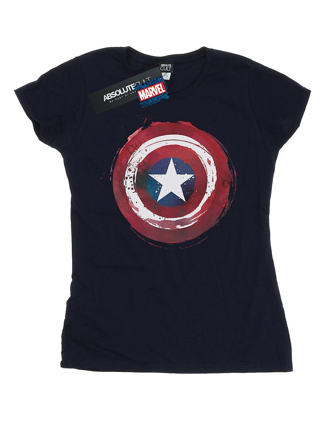 Marvel Women's Captain America Splatter Shield T-Shirt