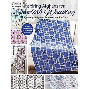 Inspiring Afghans for Swedish Weaving: 8 Stunning� Designs to Stitch on Monk's Cloth
