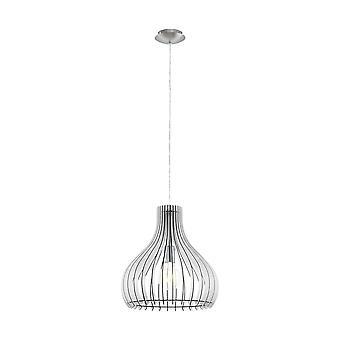 Eglo - Tindori singolo piccolo soffitto luce pendente in finitura nichel satinato con vetro EG96257