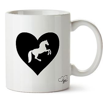 Hippowarehouse coeur cheval imprimé tasse tasse en céramique 10oz