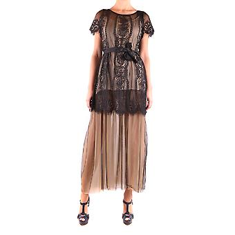 Aniye Von Ezbc098003 Damen's schwarzes Polyesterkleid