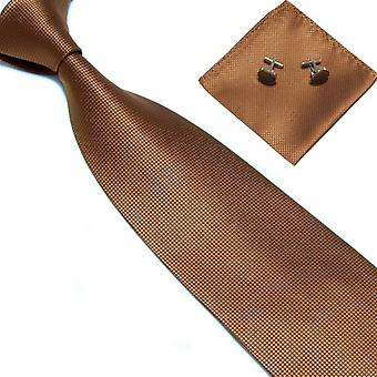 Costume Accessories | Tie + handkerchief + cufflinks-Brown