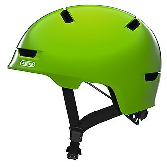 Abus scraper kid 3.0 bike helmet / / shiny green