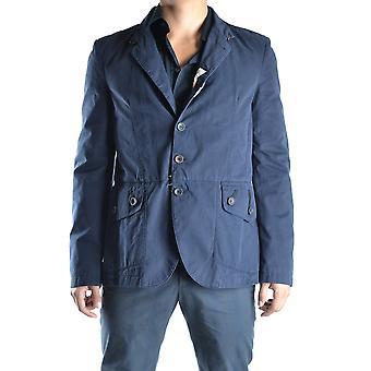 John Galliano Ezbc189017 Men's Blue Cotton Blazer