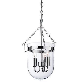 Firstlight-3 Light Lantern Chrome, Clear Glass-8636CH