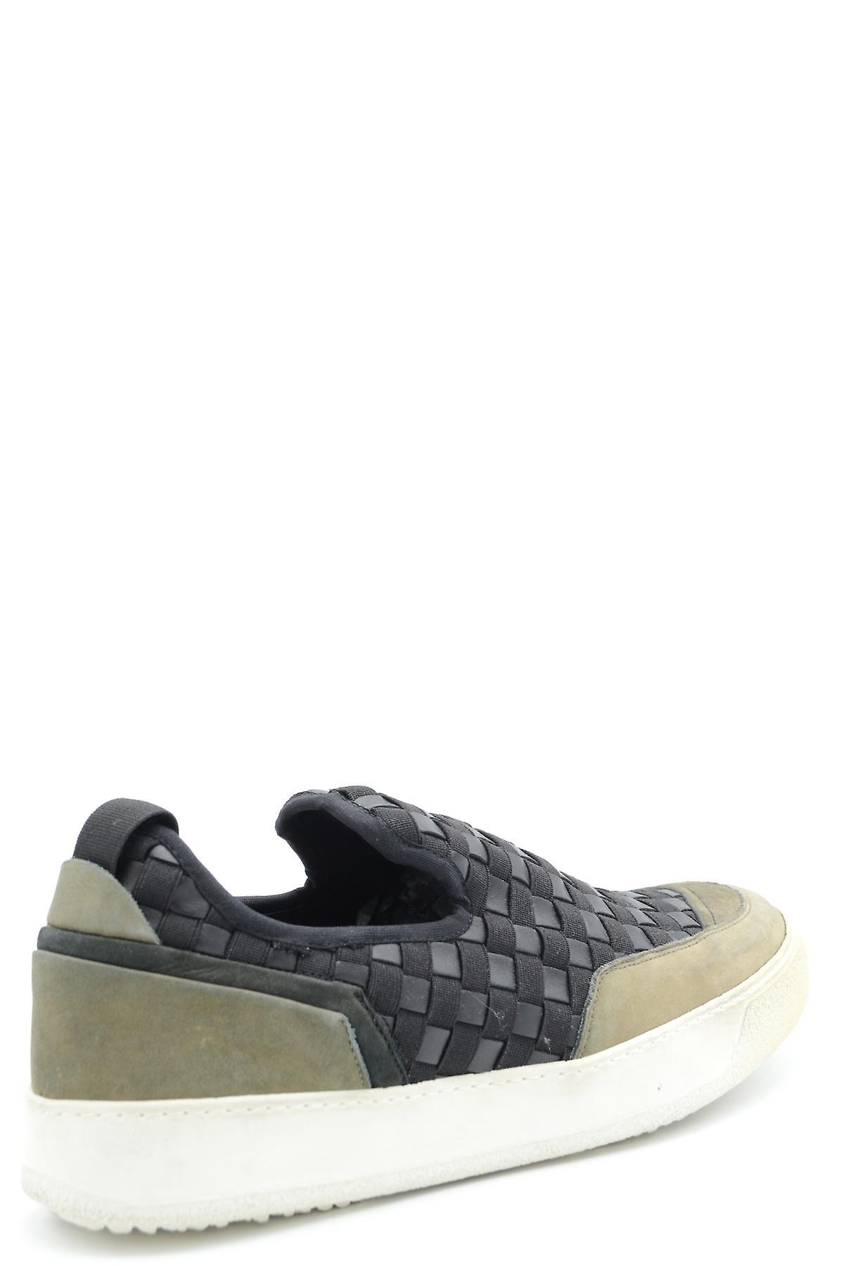 Bruno Bordese Ezbc275004 Men-apos;s Black Leather Slip On Sneakers