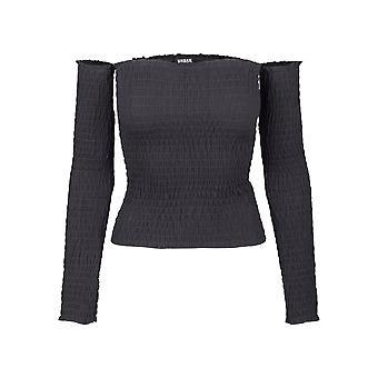 Urban Classics Damen Langarmshirt Cold Shoulder Smoke L/S