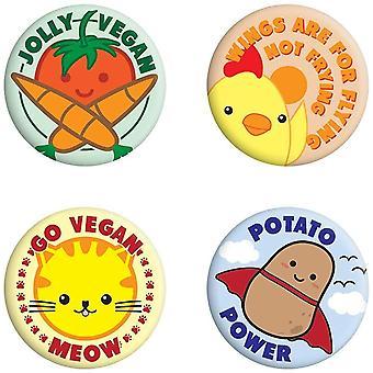 Grindstore Jolly Vegan Badge Pack