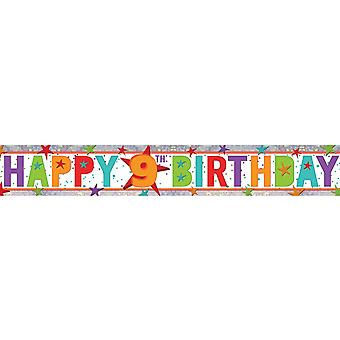 Amscan 9th Birthday Holographic Foil Banner