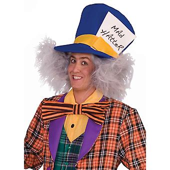 Mad Hatter Alice In Wonderland White Men Costume Wig