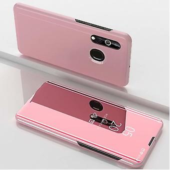 For Samsung Galaxy A20e Clear View Mirror Smartcover Pink protective case cover case case case case case new case wake UP function