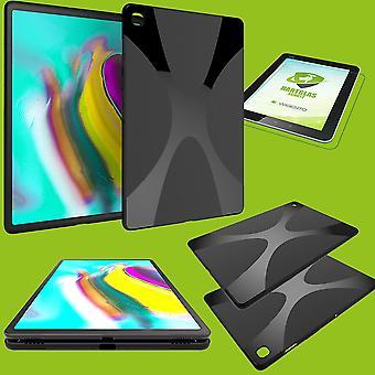 Caso de silicone saco preto para Samsung Galaxy Tab S5e 10,5 T720F + vidro duro