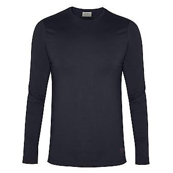 CC Collection Corneliani Navy Long Sleeve Crew Neck T-Shirt