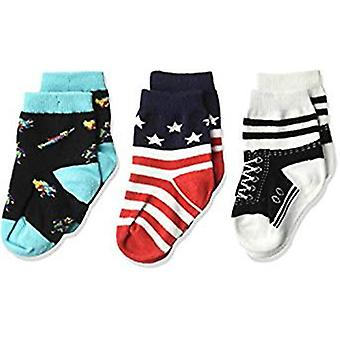 Kid's Crew Socks - K Bell - High Top 3Pk Infant Baby Black (12-24)