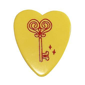 6 Pickboy Angel Rocks Guitar Picks/Plectrums - Yellow Red Key - Heavy 1.00mm