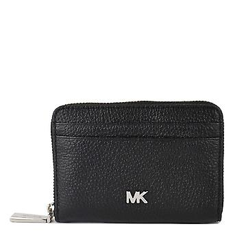 MICHAEL by Michael Kors Mott Black Zip Around Card Case