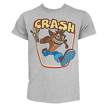 Crash Bandicoot Aku-Aku Grey Tee Shirt