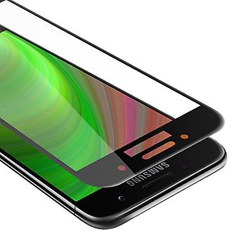 Cadorabo Vollbild Panzer Folie für Samsung Galaxy A3 2017  - Gehärtetes (Tempered) Display-Schutzglas in 9H Härte mit 3D Touch Kompatibilität