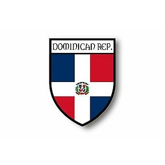 Pegatina Pegatina Motocicleta Coche Blason Ciudad República Dominicana Bandera