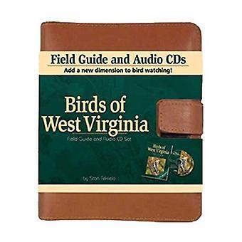 Fåglar av West Virginia Fälthandbok och Audio CD läder Set