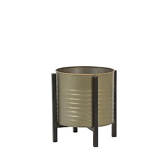 Light & Living Flower Pot Deco On Stand Ø25,5x27 Cm CASKI Tin Bronze