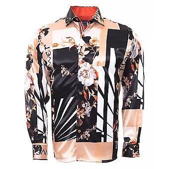 Oscar Banks Floral Japanese Inspired Mens Shirt