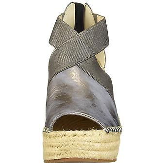 Kenneth Cole New York Women's Olivia Stretch Espadrille Wedge Sandal, Pewter,...