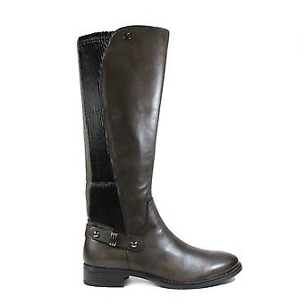 Caprice 25521 Dark Grey Leather Womens Long Leg Boots