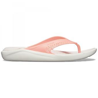 Crocs 205182 Literide Flip Ladies Flip Flops Melon/white