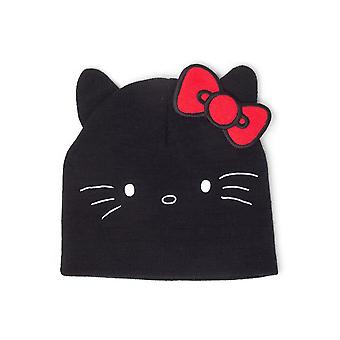 Hello Kitty - Kitty Shaped Ears Beanie Unisex Black (KC643874HKT)