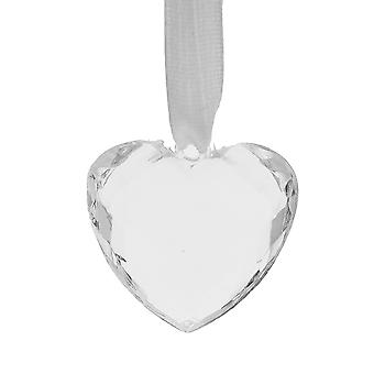 3.5cm Clear Acryl Hart Opknoping kerstornament