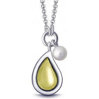 QUINN - Halskette - Silber - Perle - Lemonquarz - Süßwasser - 27320948