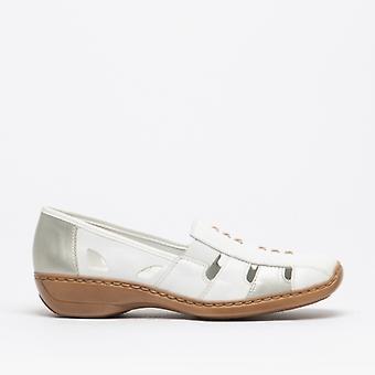 Rieker 41385-82 Ladies slip på kuttet ut skokrem